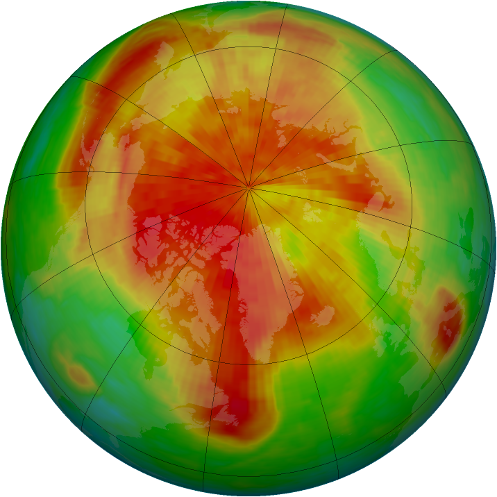 Arctic ozone map for 12 April 1994