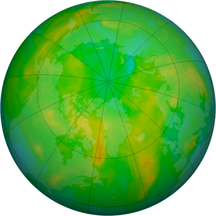 Arctic ozone map for 27 June 1994