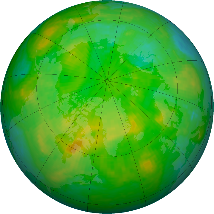 Arctic ozone map for 30 June 1994