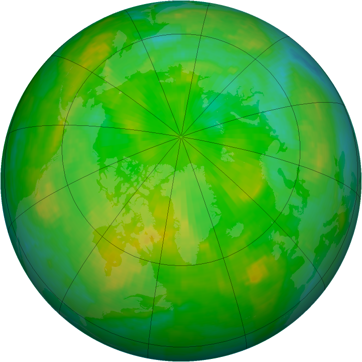 Arctic ozone map for 02 July 1994