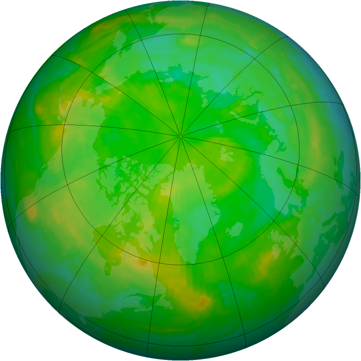 Arctic ozone map for 05 July 1994