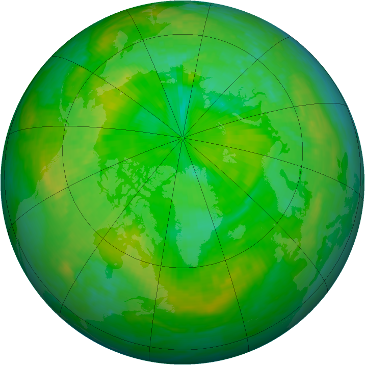 Arctic ozone map for 08 July 1994