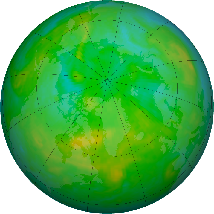 Arctic ozone map for 15 July 1994
