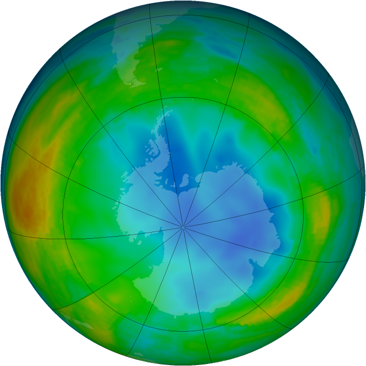 Antarctic ozone map for 17 July 1994