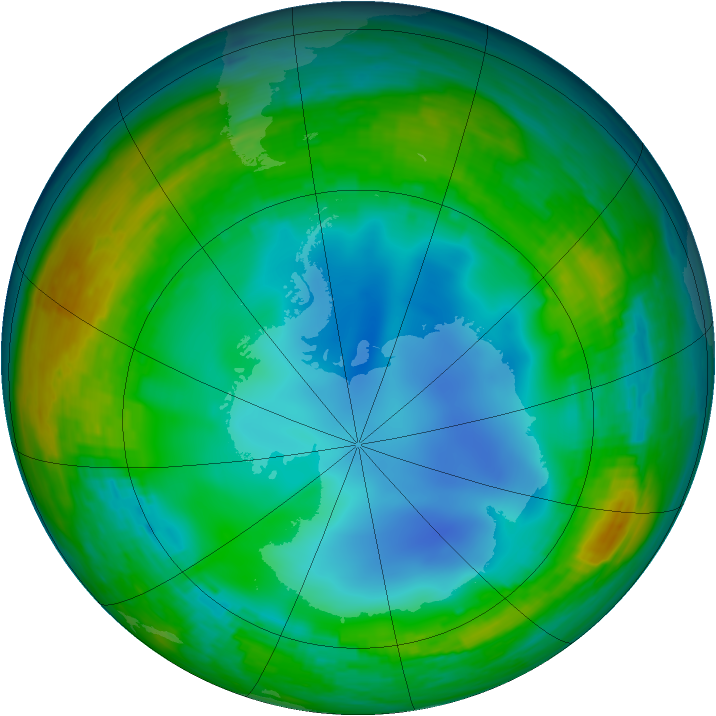 Antarctic ozone map for 18 July 1994
