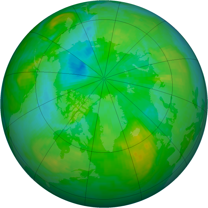 Arctic ozone map for 26 July 1994