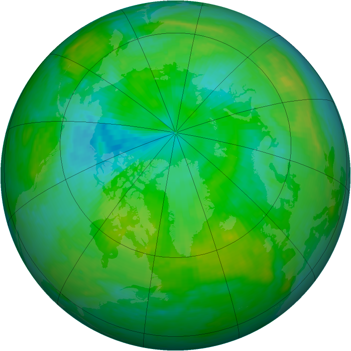 Arctic ozone map for 30 July 1994