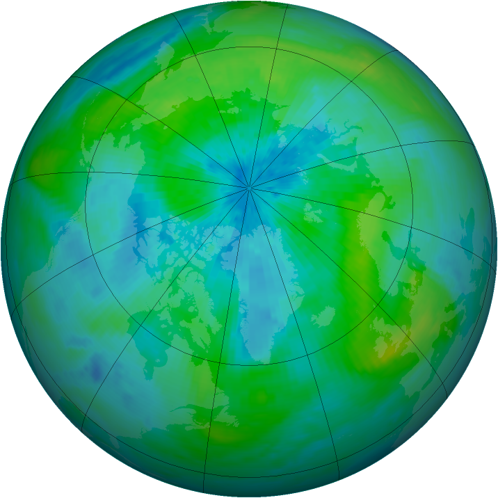 Arctic ozone map for 15 September 1994