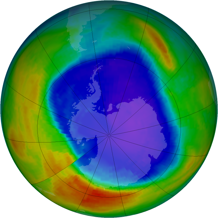 Antarctic ozone map for 17 September 1994