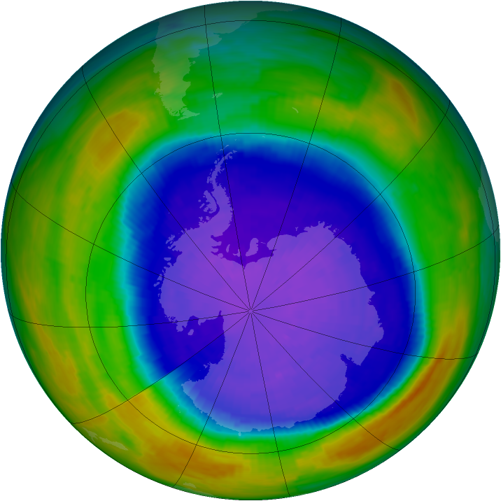 Antarctic ozone map for 23 September 1994