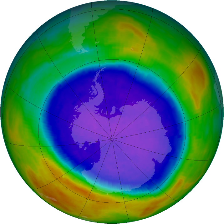 Antarctic ozone map for 26 September 1994