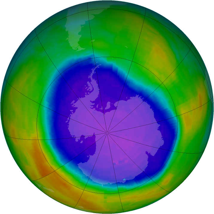 Antarctic ozone map for 28 September 1994