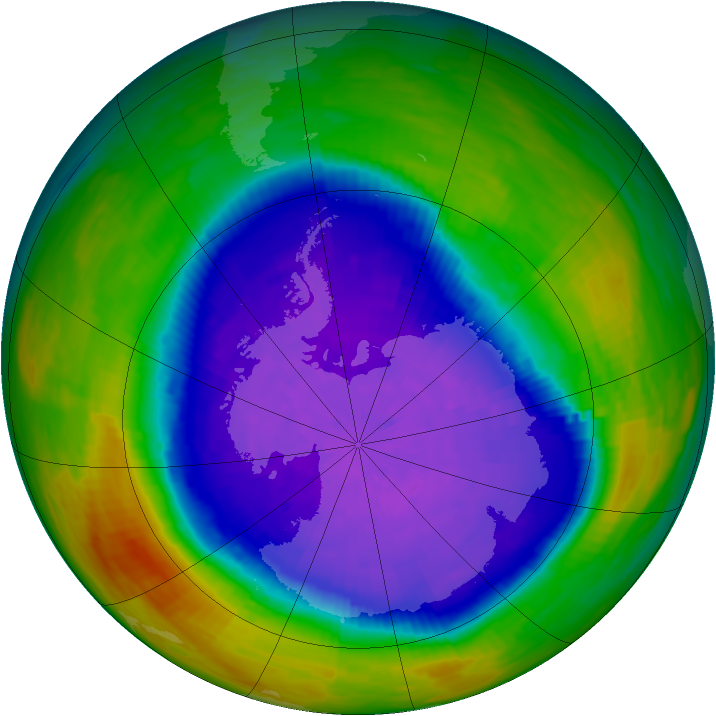 Antarctic ozone map for 29 September 1994