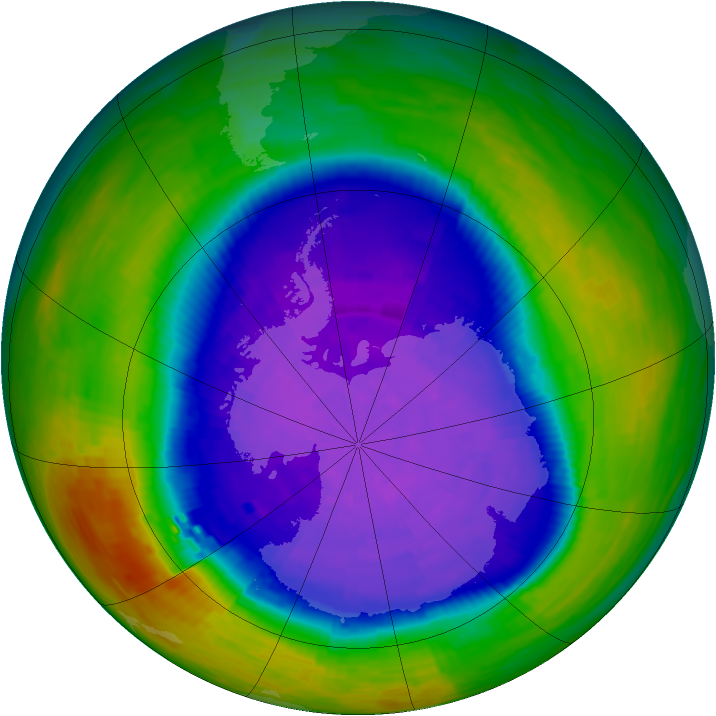 Antarctic ozone map for 30 September 1994