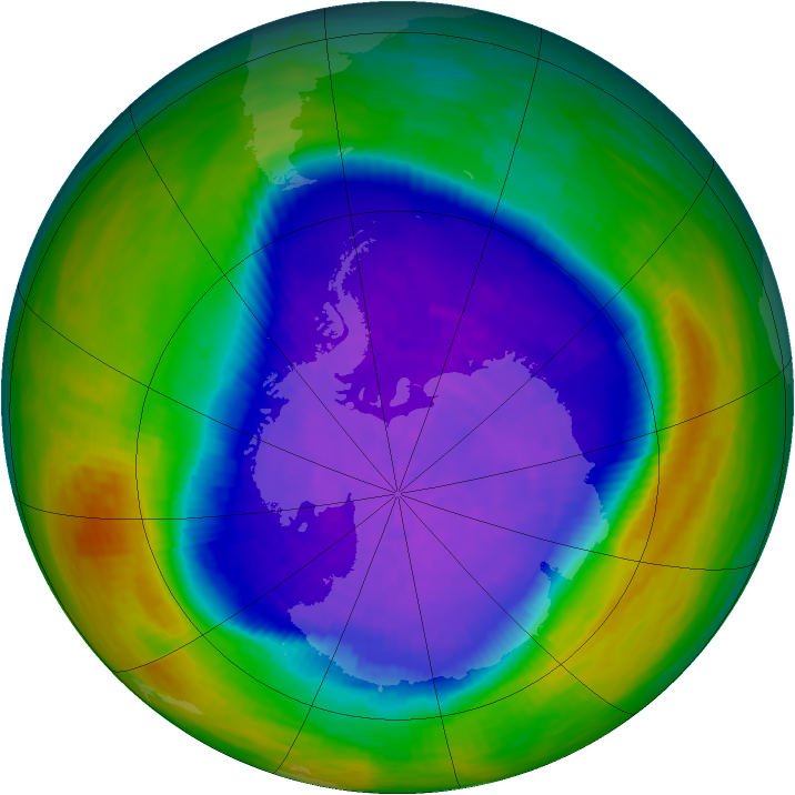 Antarctic ozone map for 02 October 1994
