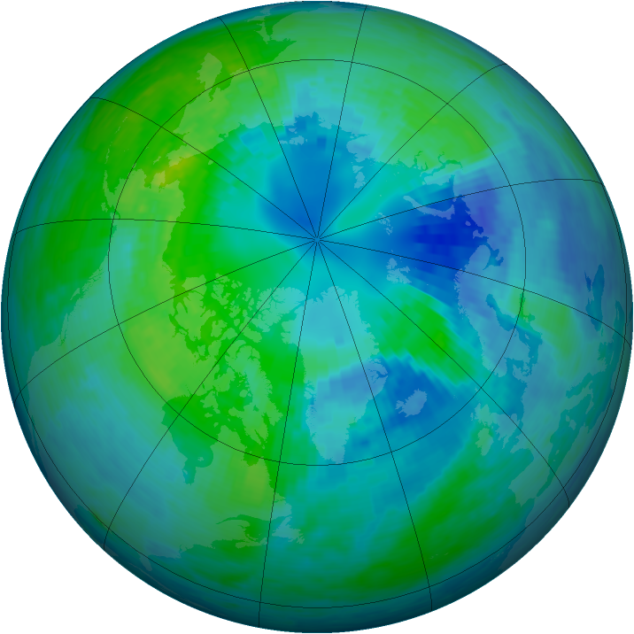 Arctic ozone map for 11 October 1994