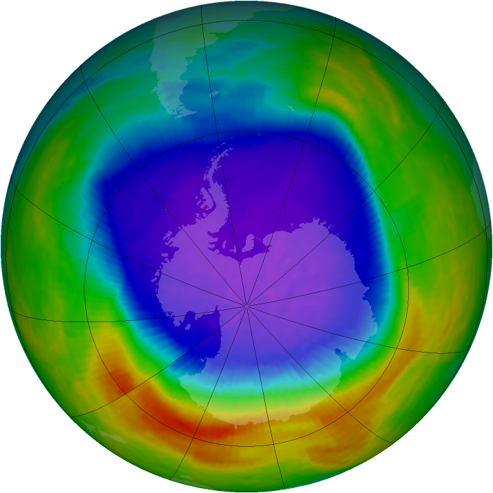 Antarctic ozone map for 12 October 1994