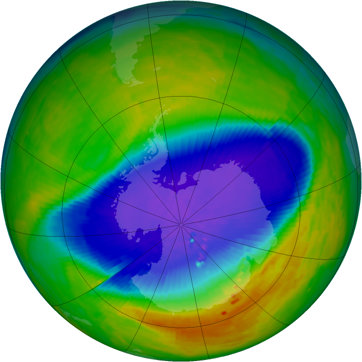 Antarctic ozone map for 26 October 1994