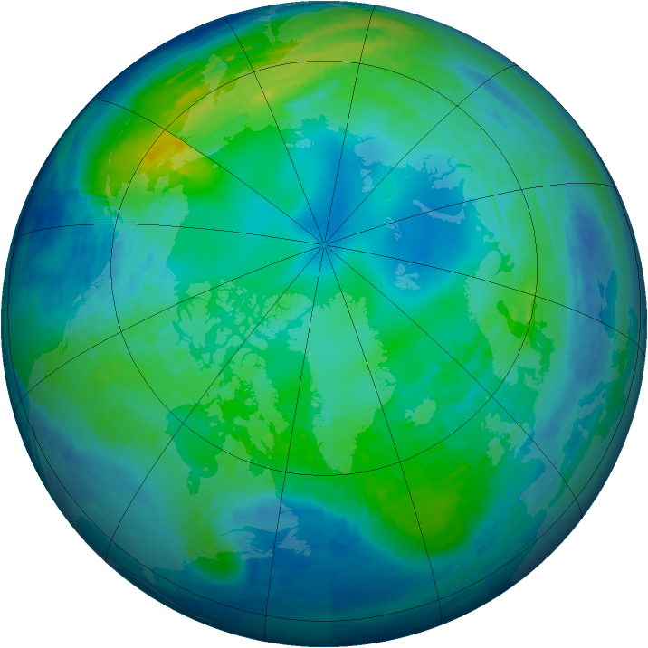Arctic ozone map for 02 November 1994