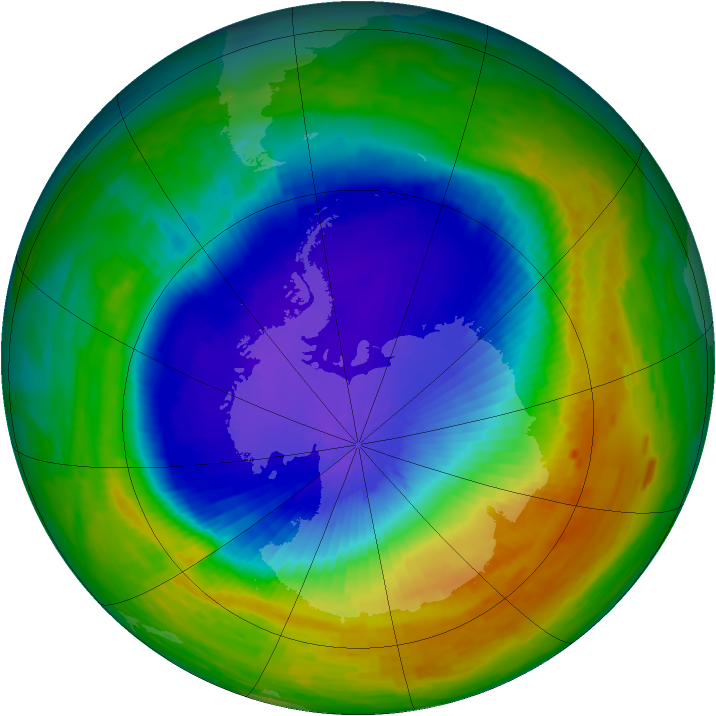 Antarctic ozone map for 02 November 1994