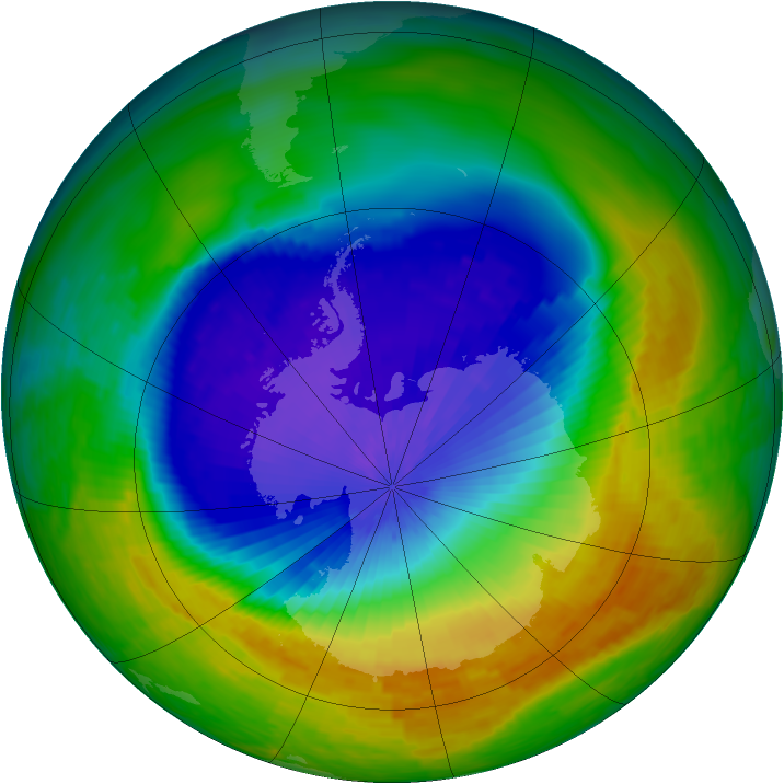 Antarctic ozone map for 03 November 1994
