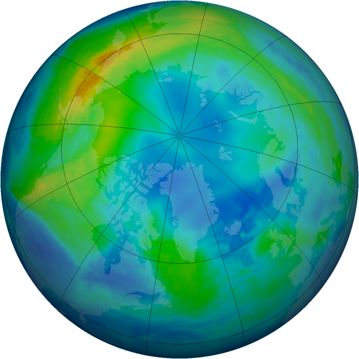Arctic ozone map for 06 November 1994