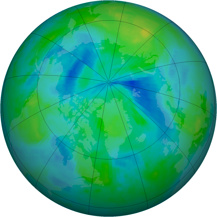 Arctic ozone map for 06 September 1996