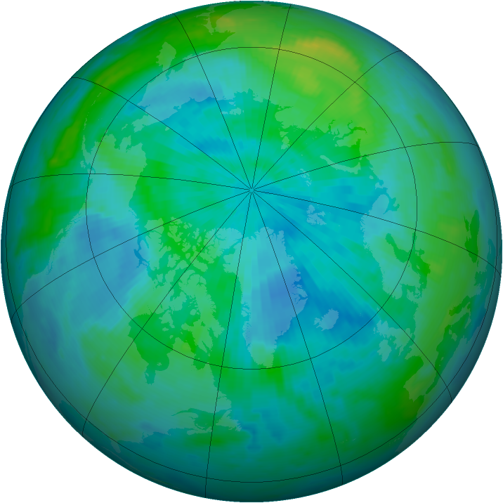 Arctic ozone map for 11 September 1996