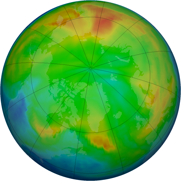 Arctic ozone map for 29 December 1996