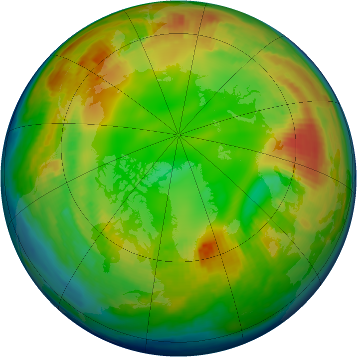 Arctic ozone map for 01 February 1997