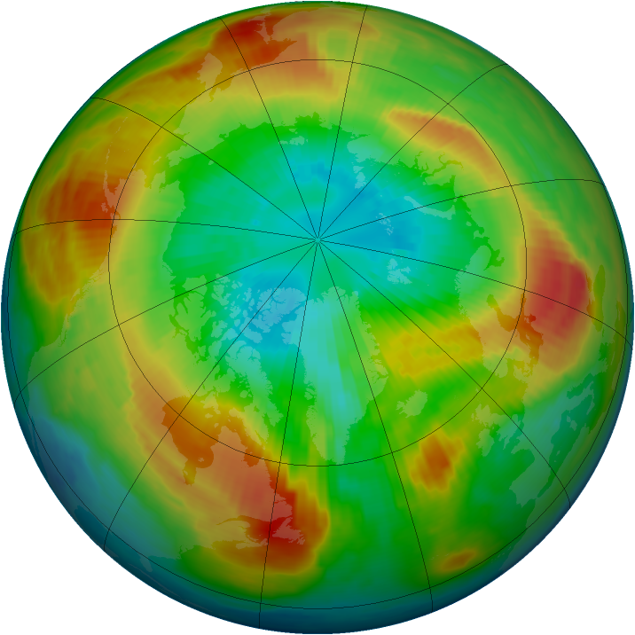 Arctic ozone map for 17 March 1997
