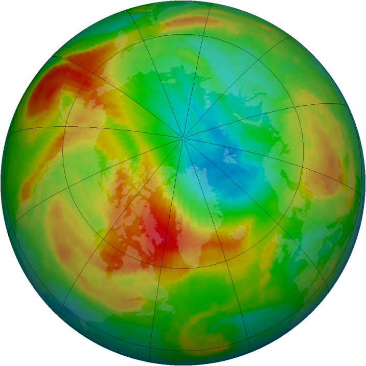 Arctic ozone map for 08 April 1997