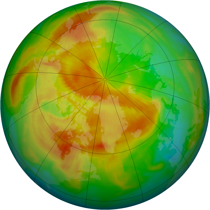 Arctic ozone map for 02 May 1997