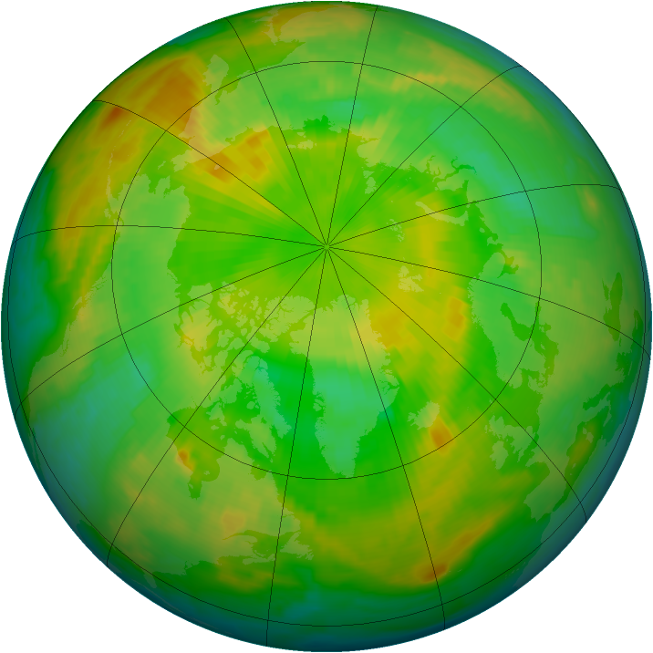 Arctic ozone map for 05 June 1997
