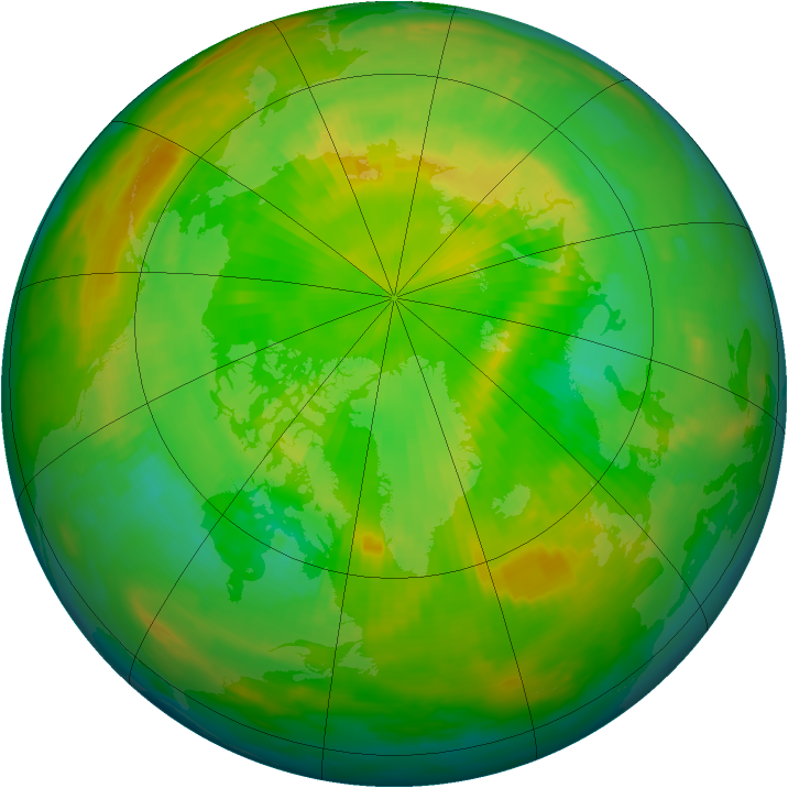 Arctic ozone map for 08 June 1997