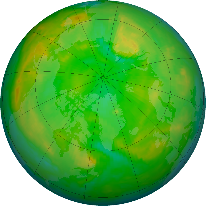 Arctic ozone map for 20 June 1997
