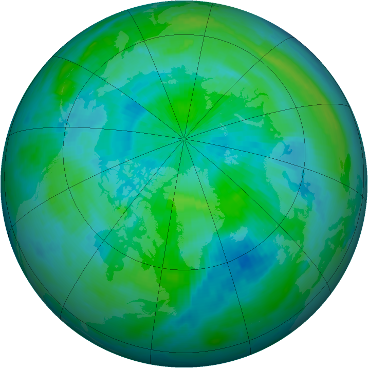 Arctic ozone map for 06 September 1997