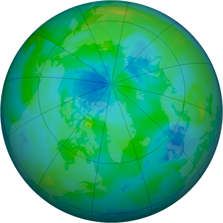 Arctic ozone map for 10 September 1997