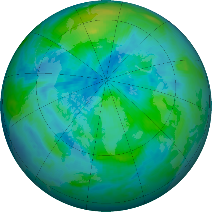 Arctic ozone map for 14 September 1997