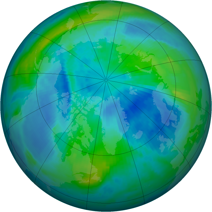 Arctic ozone map for 24 September 1997