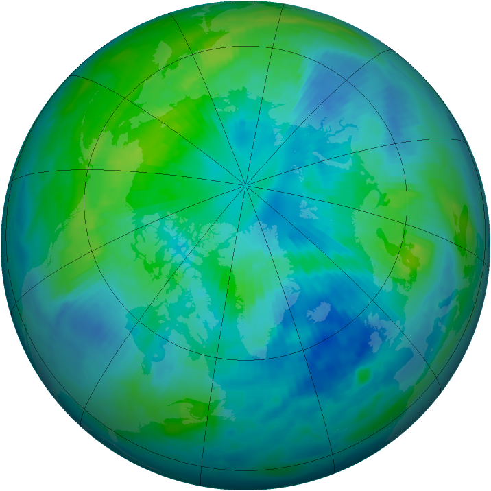 Arctic ozone map for 02 October 1997
