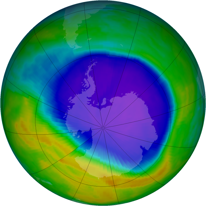 Antarctic ozone map for 11 October 1997