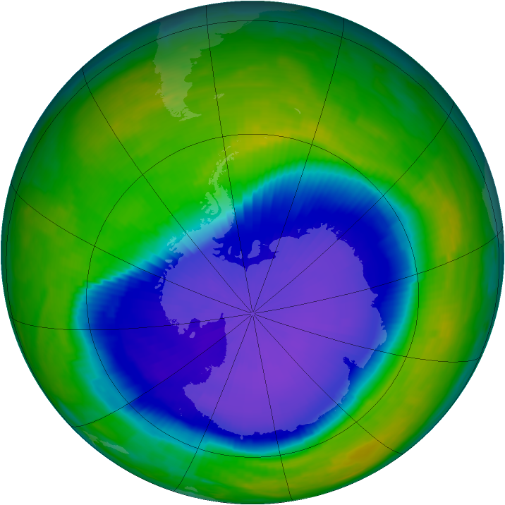 Antarctic ozone map for 26 October 1997