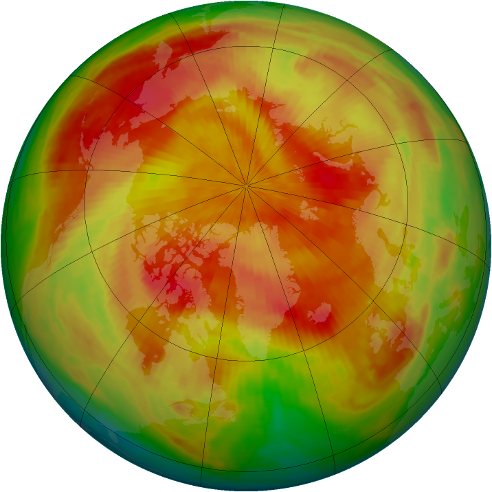 Arctic ozone map for 07 April 1998