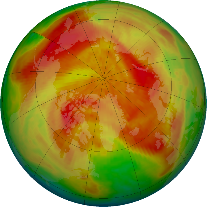 Arctic ozone map for 08 April 1998