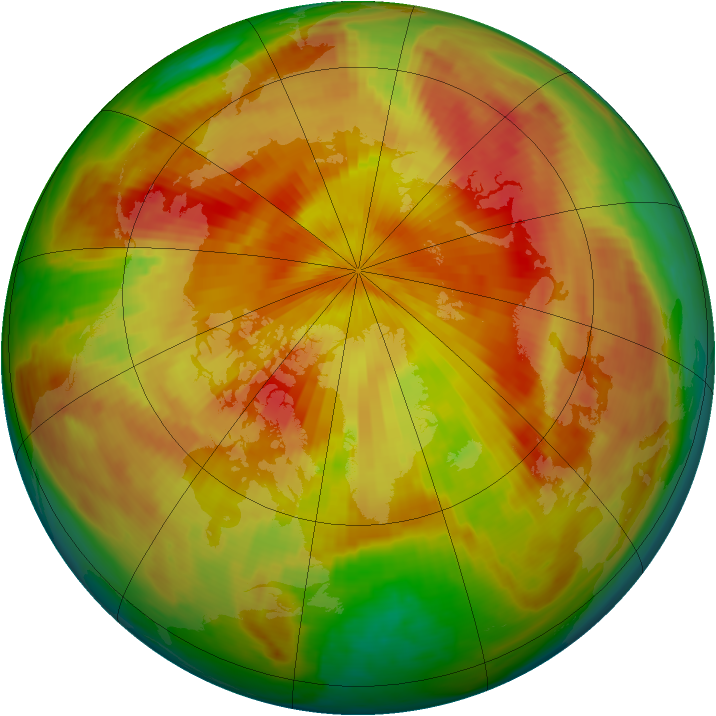 Arctic ozone map for 14 April 1998