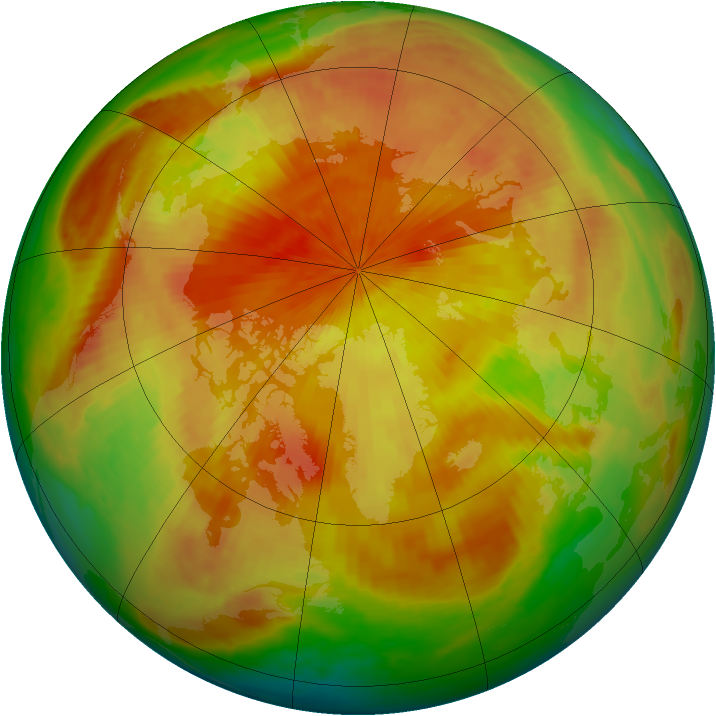 Arctic ozone map for 24 April 1998