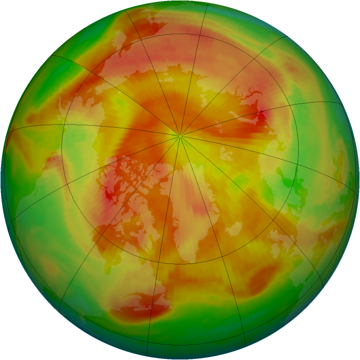 Arctic ozone map for 28 April 1998