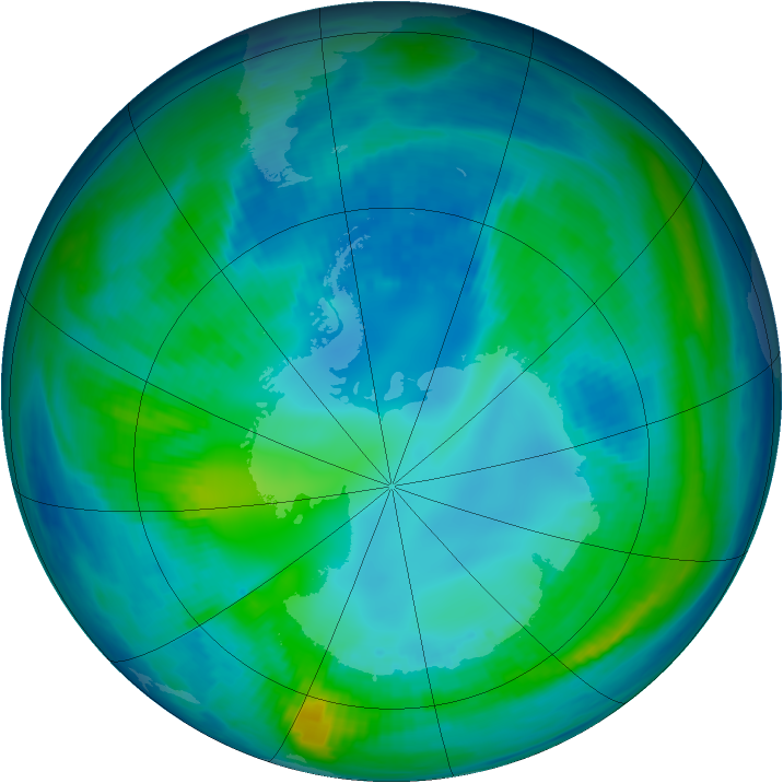 Antarctic ozone map for 30 April 1998