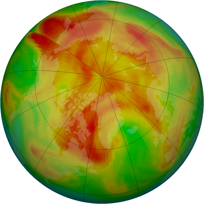 Arctic ozone map for 02 May 1998